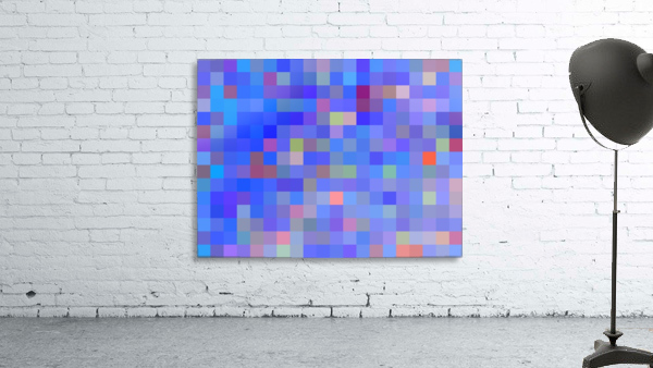geometric square pixel pattern abstract in blue and pink