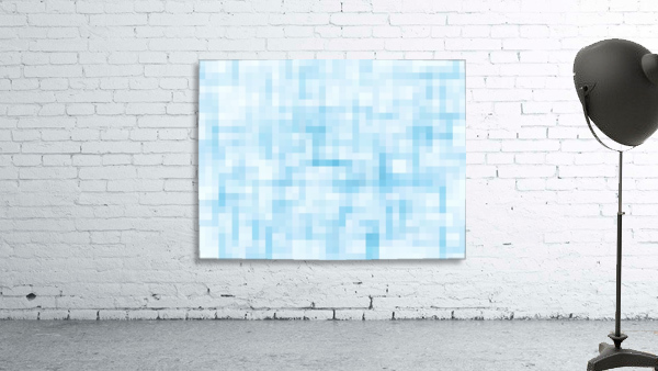 geometric square pixel pattern abstract in blue
