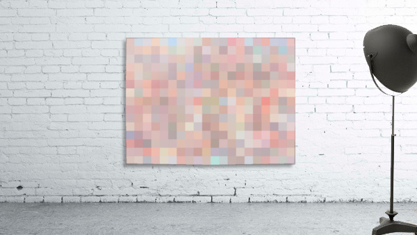 geometric square pixel pattern abstract in pink and blue