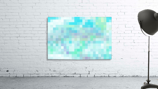 Abstract Pixel Picture -Ocean shades