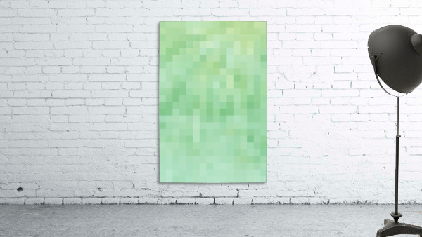 Abstract Pixel Picture - Green shades
