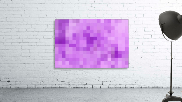 Abstract Pixel Art - Purple Shades