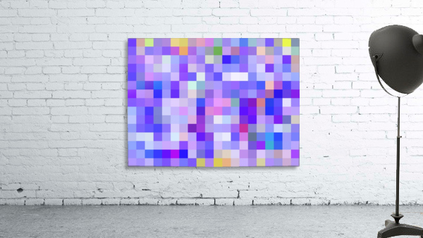 geometric square pixel pattern abstract background in blue pink purple