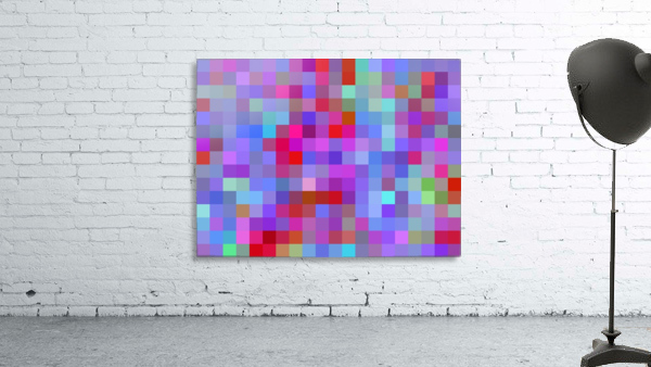 geometric square pixel pattern abstract background in pink blue purple