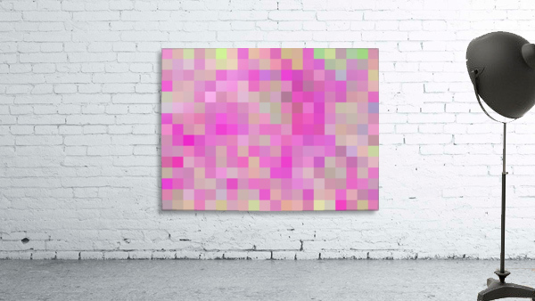 geometric square pixel pattern abstract background in pink blue green