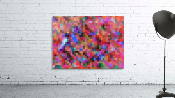 geometric square pixel pattern abstract background in pink blue orange purple