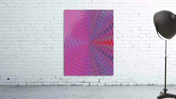 geometric square pixel pattern abstract background in pink and blue