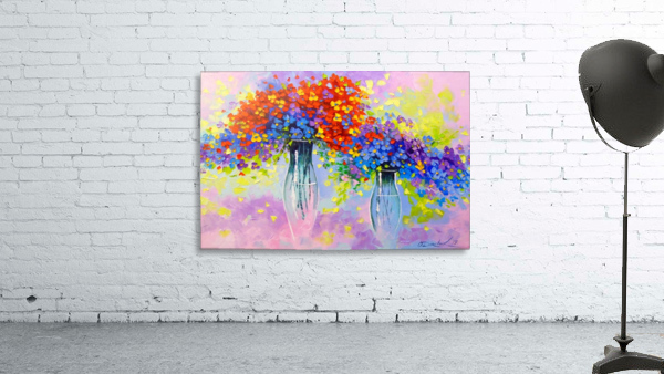Music of multi-colored flowers