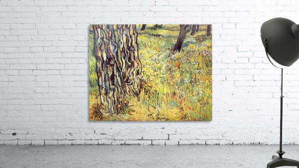 Tree trunks by Van Gogh