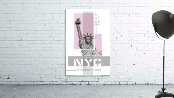 Poster Art NYC Statue of Liberty | light pink