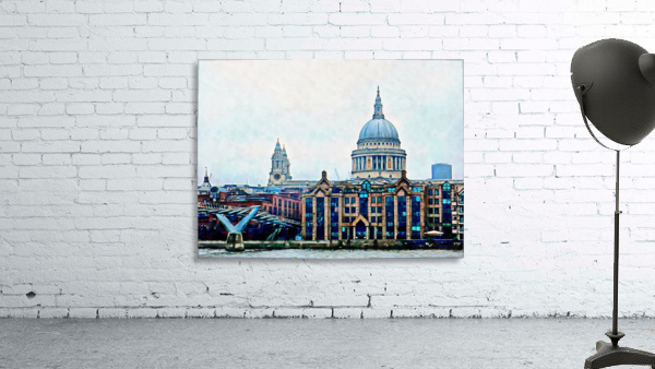 Millennium Bridge to St Pauls Cathedral London