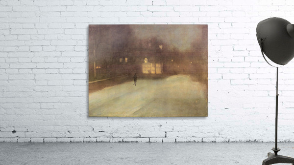Nocturne in gray and gold, snow in Chelsea by James Abbot McNeill Whistler