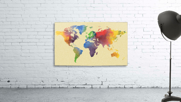 Hot And Vivid Watercolor Map Of The World