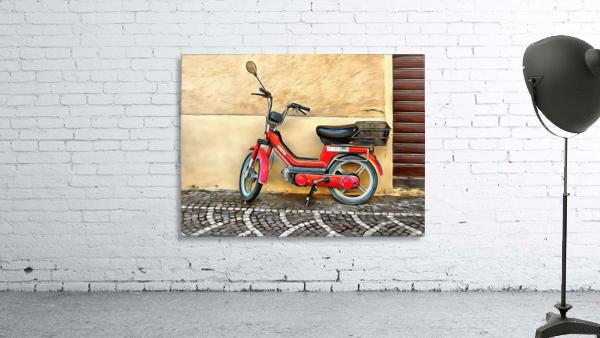 Red Piaggio Moped