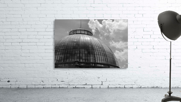 Belle Isle Conservatory Dome BW