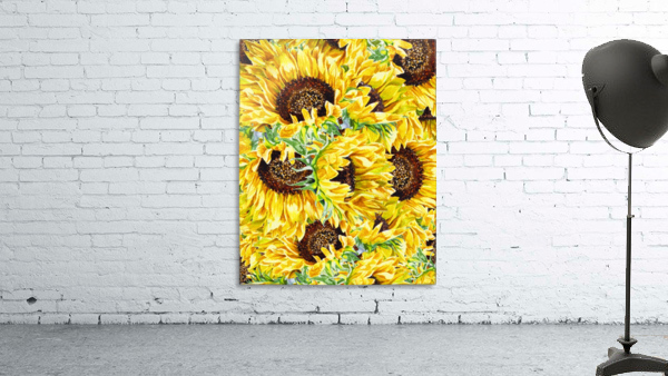 The Filed Of Watercolor Sunflowers Pattern