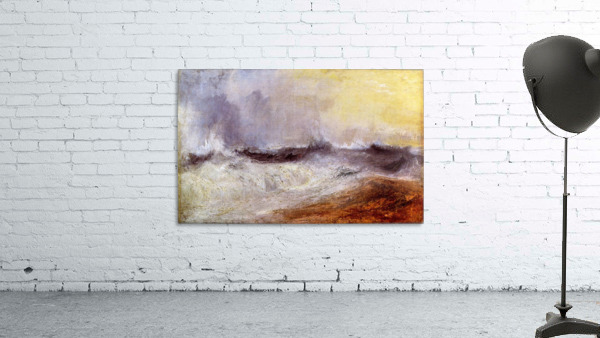 Waves breaking against the wind by Joseph Mallord Turner