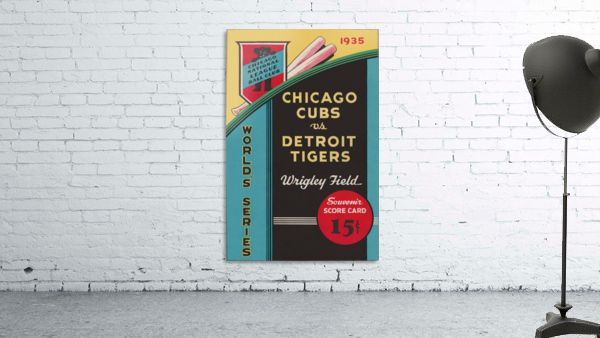 1935 Chicago Cubs World Series Program Cover