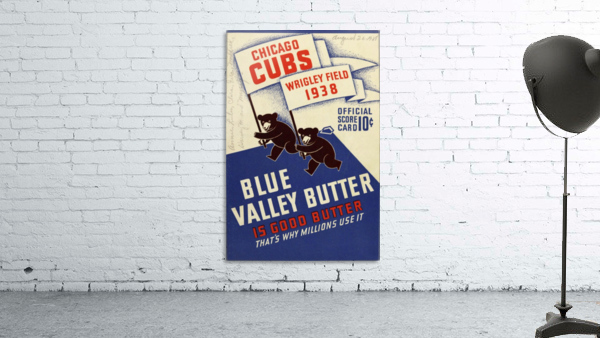 1938 Chicago Cubs Program Cover