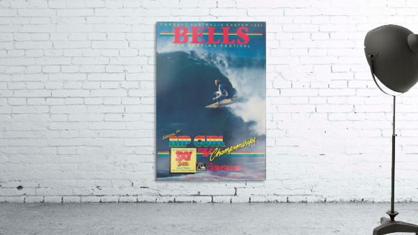 1983 RIP CURL BELLS BEACH EASTER Surfing Championship Competition Print - Surfing Poster