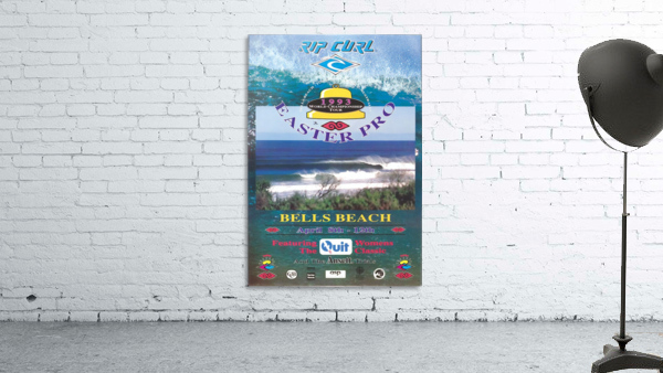 1993 RIP CURL BELLS BEACH EASTER Surfing Championship Competition Print - Surfing Poster