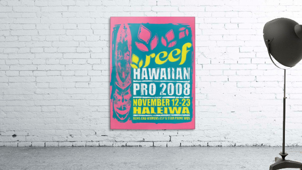 2008 REEF HAWAIIAN PRO Surf Competition Poster