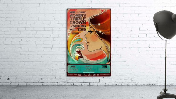 2009 Womens VANS TRIPLE CROWN OF SURFING Competition Poster