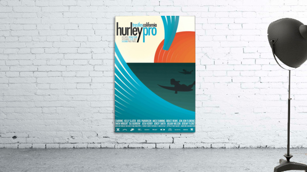 2012 HURLEY PRO TRESTLES Surf Competition Poster