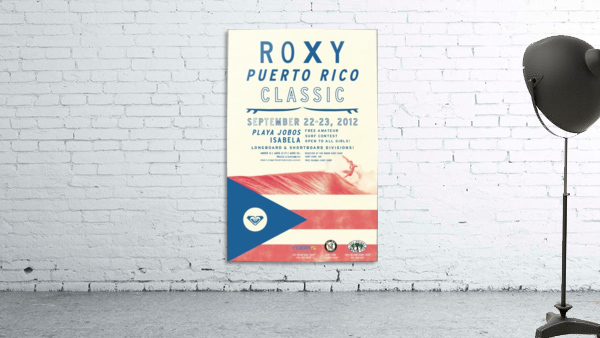 2012 ROXY PUERTO RICO CLASSIC Surfing Competition Print