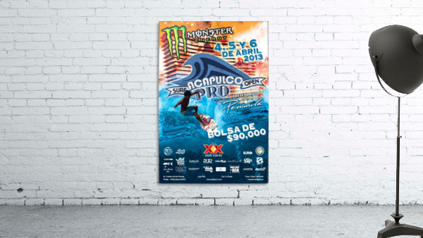 2013 ACAPULCO PRO Surf Competition Print