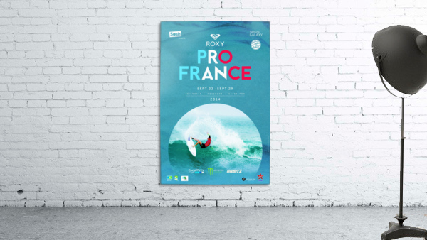2014 ROXY PRO FRANCE Surfing Competition Poster