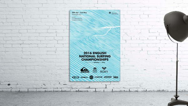 2016 ENGLISH NATIONAL SURFING Tournament Poster