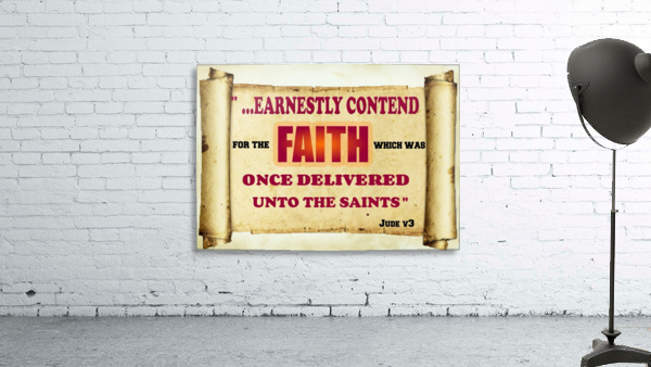 Earnestly contend for the faith