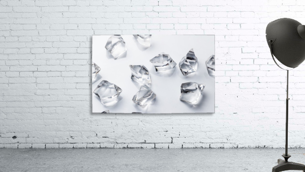 Crystals on the white background