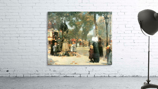 Parisian street scene -1- by Hassam
