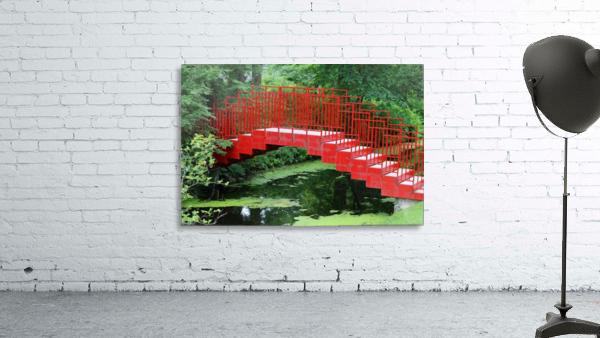 Dow Gardens Red Footbridge 062618