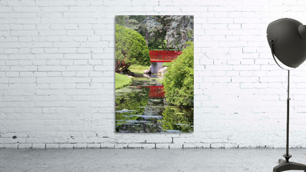 Red Bridge and Reflection 2 Dow Gardens 062618