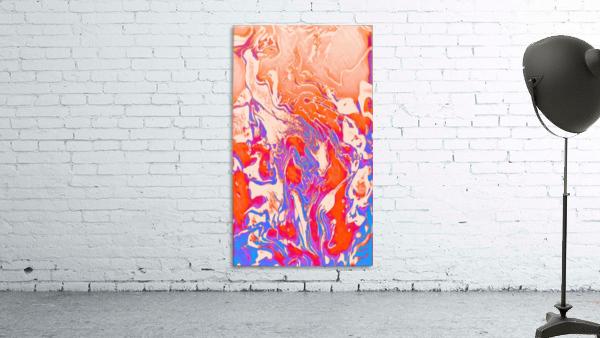 Harmonized Masculine and Feminine - red blue orange purple abstract gradient swirls