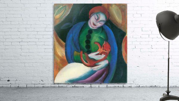 Girl with a Cat II by Franz Marc