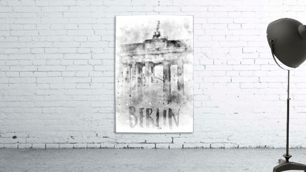 Monochrome Art BERLIN Brandenburg Gate | Watercolor