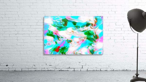Angelic High - white blue pink green swirls abstract wall art