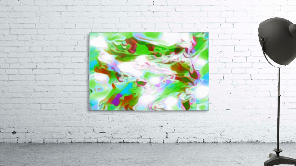 Green Glass Window - multicolor abstract swirls wall art