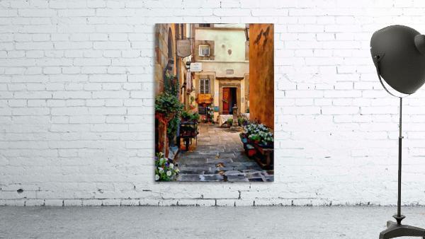 Floral Courtyard Cortona Tuscany