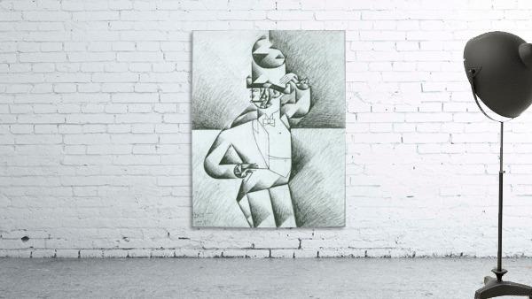 Man in Cafe by Juan Gris
