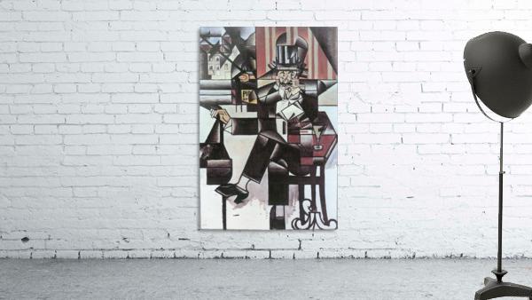 Man in Cafe -1- by Juan Gris