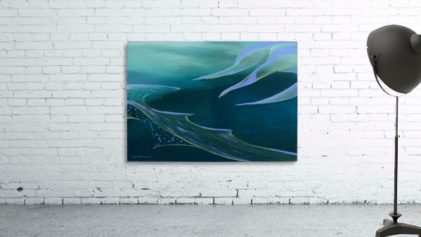 Teal Abstraction