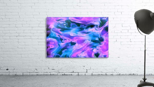 Purple Ice - purple blue abstract swirl wall art