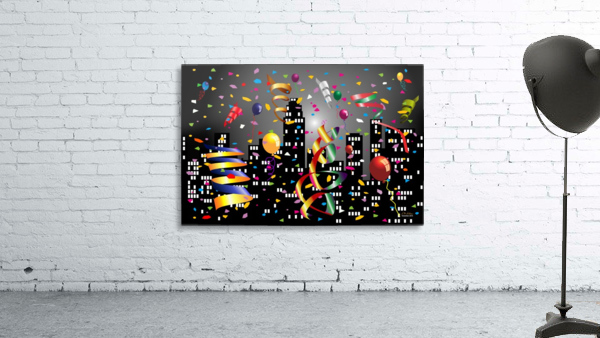 1-Nighttime Celebration in the Big City