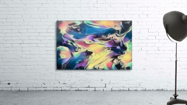 Smooth Brandy - multicolor abstract swirl wall art