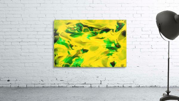 Golden Synchronicities - gold green abstract swirl wall art